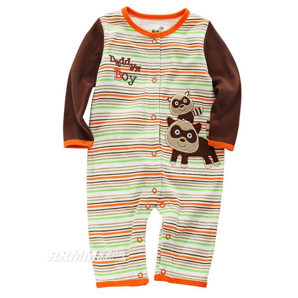 Дисконтированный новорожденного комбинезон весна и Отем Коттон с длинными рукавами одежды полнолуния младенца Romper восхождение одежды для мужчин и женщин