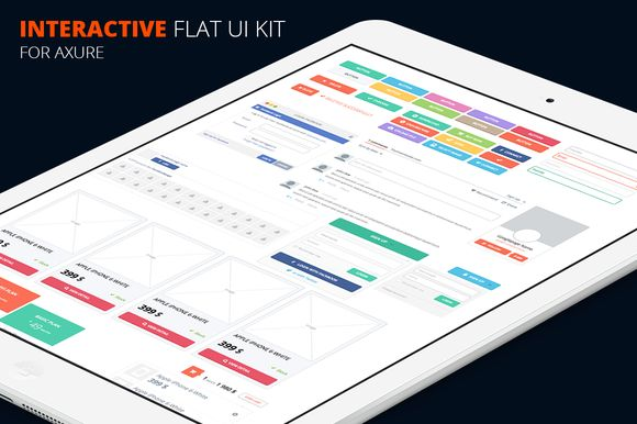 Axure flat UI kit by Marcoo on Creative Market