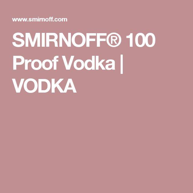 SMIRNOFF® 100 Proof Vodka | VODKA