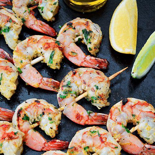 Brochettes de Crevettes aux Agrumes et Gingembre