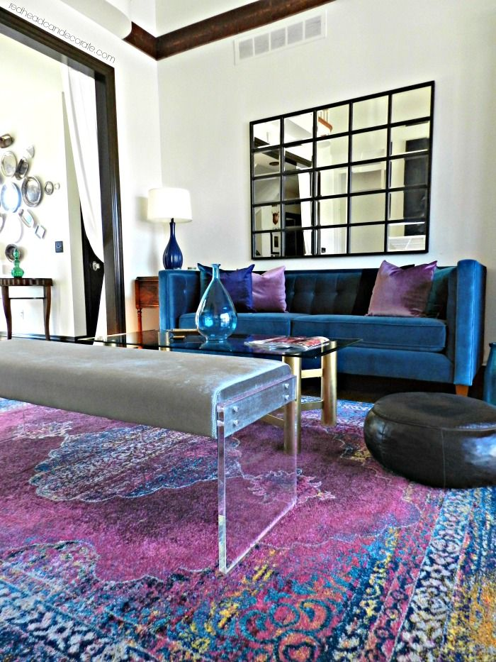 Transform Your Living Room With Vibrant Colors In 2020 Purple Living Room Blue Living Room Vibrant Living Room