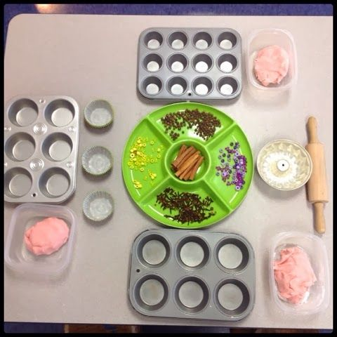 "Lovely blog post from Inquiring Minds: Mrs. Myers' Kindergarten, on creating a Bakery role-play area ("",)"