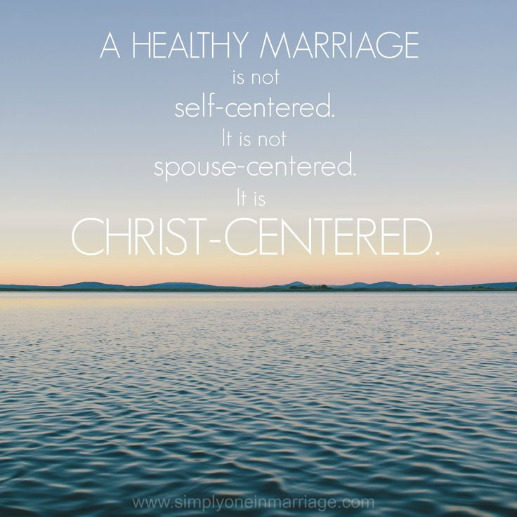 A Healthy Marriage is Christ-centered. | Simply One.