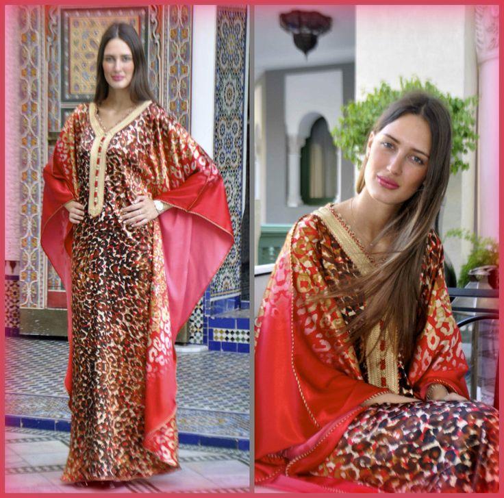Traditional Moroccan gandoura.  www.caftan.me