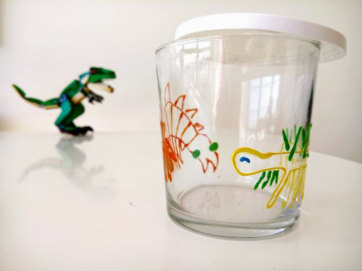 Paleontology Cambrian Burgess shale glass jar: Hallucigenia and Anomalocaris. Pen holder, food container, hand painted and customisable by HugMeShop on Etsy