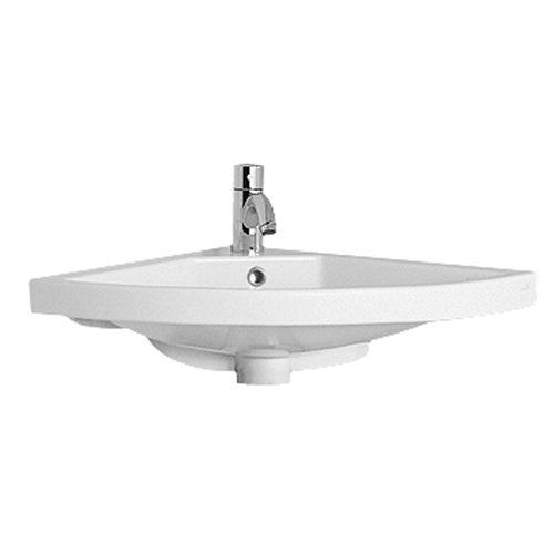 Found it at Wayfair - China Corner Wall Mount Basin with Overflow