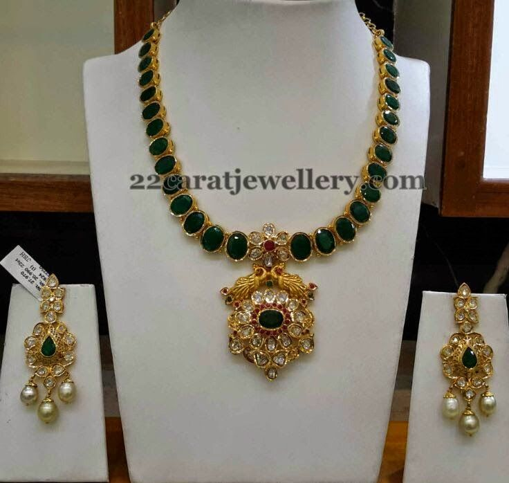 Jewellery Designs: Elegant Necklace by Srimahalakshmi Jewels