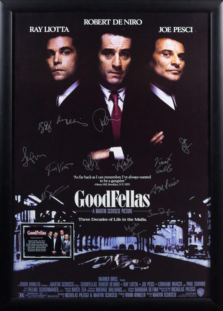GoodFellas Cast Signed Movie Poster Wood Framed