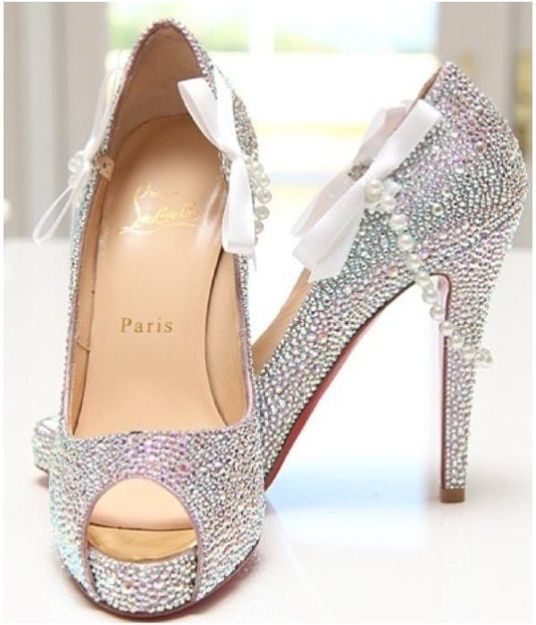 7d3a9eb4bcd christian louboutin bridal shoes 2012 black lou boutins diamonds and ...