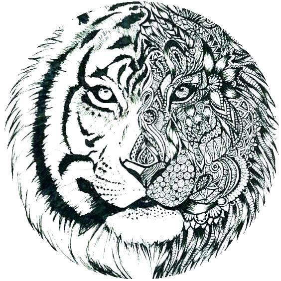 Tiger Coloring Pages To Print Tiger Printable Coloring Pages Printable Tiger Coloring Pages Tiger T Animal Coloring Pages Coloring Pages Mandala Coloring Pages