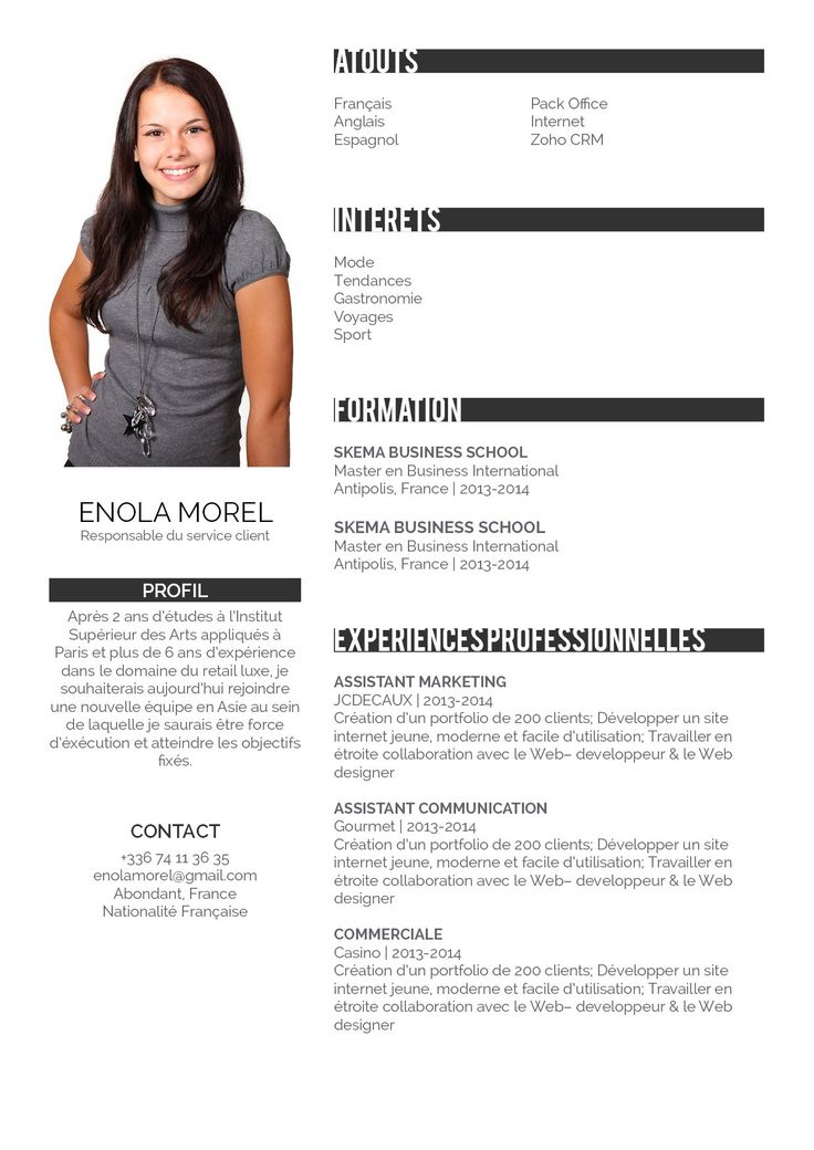 faire un site web cv