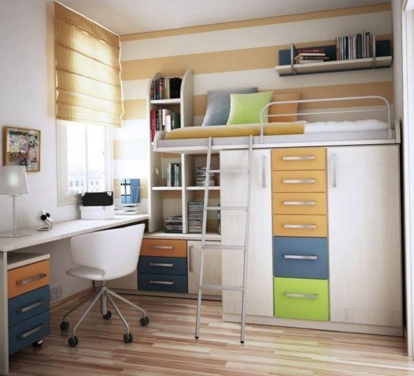 Hochbett Schrank System Bcher Schreibtisch