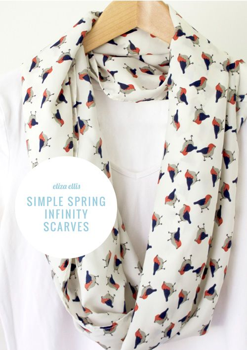 How To Make A Simple Spring Infinity Scarf By Eliza Ellis Diy Fashion And Jewelry Pinterest Scarves