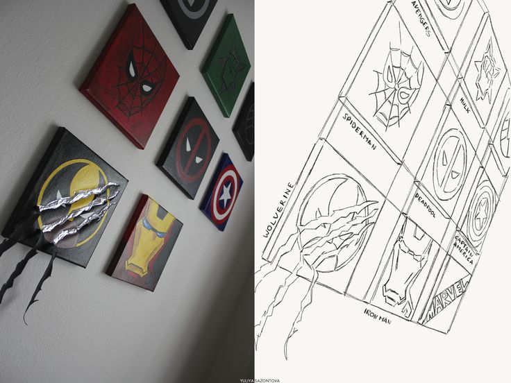 Sketch from wall project  #sketch #drawing #marvel #captain america #ironman #deadpool #wolverine #hulk #avengers #spiderman