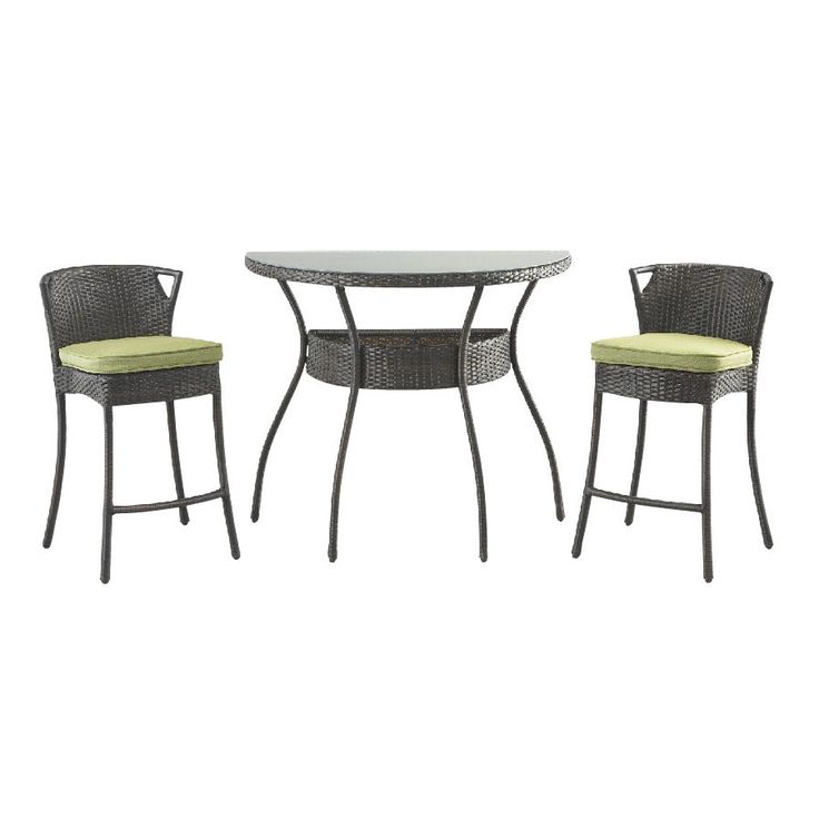 Foremost Casual 3 Piece Glass Patio Dining Set