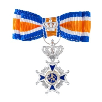 Hét Lintje. You might get one of these on Queen's Day, if you're nominated due to some extraordinary things you've done for the Dutch society.