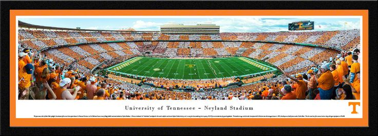 This panorama, taken by Robert Pettit, spotlights the excitement of the season's home opener between the Tennessee Volunteers and the Oklahoma Sooners at one of college football's most iconic landmark