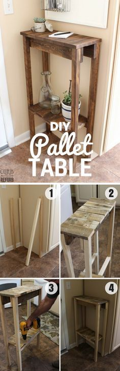 Check out how to build this easy DIY Pallet Table @istandarddesign