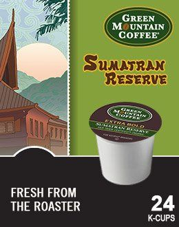 Green Mountain Coffee Fair Trade Organic Sumatran Reserve Extra Bold KCup 96 count >>> For more information, visit image link. (This is an affiliate link) #CapsulesPods