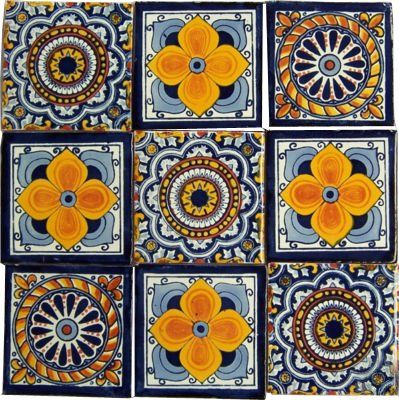 What about hand painted tiles to decorate and brighten up the room? What if I painted them? The only thing is I don't know how I would glaze them.  @elainemichael