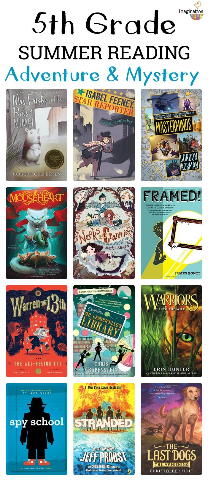 5th Grade Summer Reading List Ages 10 11 Kids Summer Reading Summer Reading Lists Books For Tweens