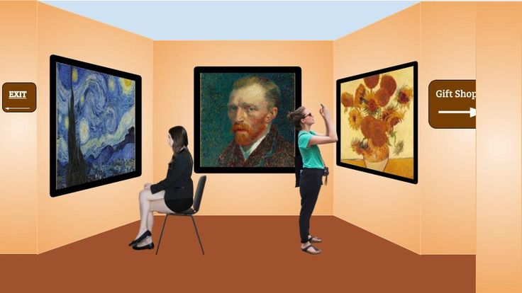 Create a virtual museum in Google slides.