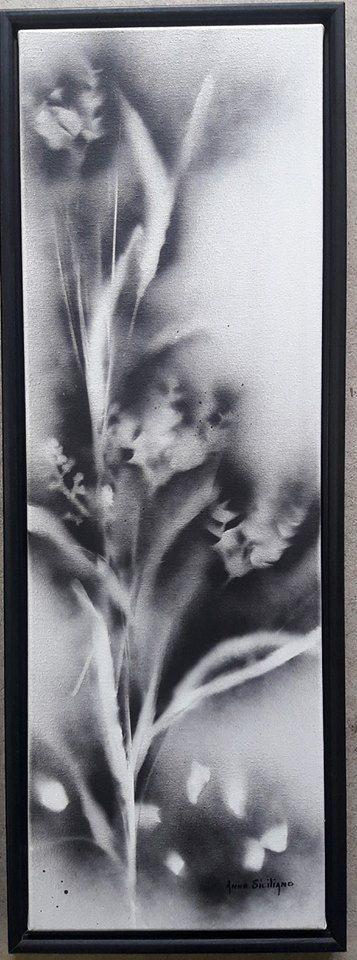 Mixed media on  12 x 36 framed canvas