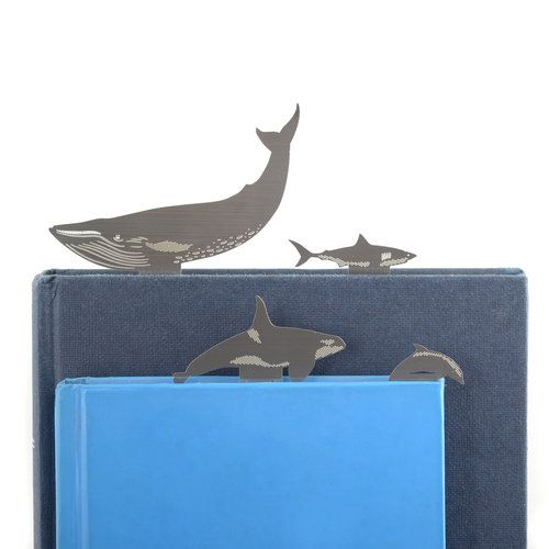 Ocean bookmarks  £7.95  Learn about the ocean habitat with this set of marine wildlife bookmarks which include: Bottlenose Dolphin, Blue Whale, Orca (killer whale) and Great White Shark.