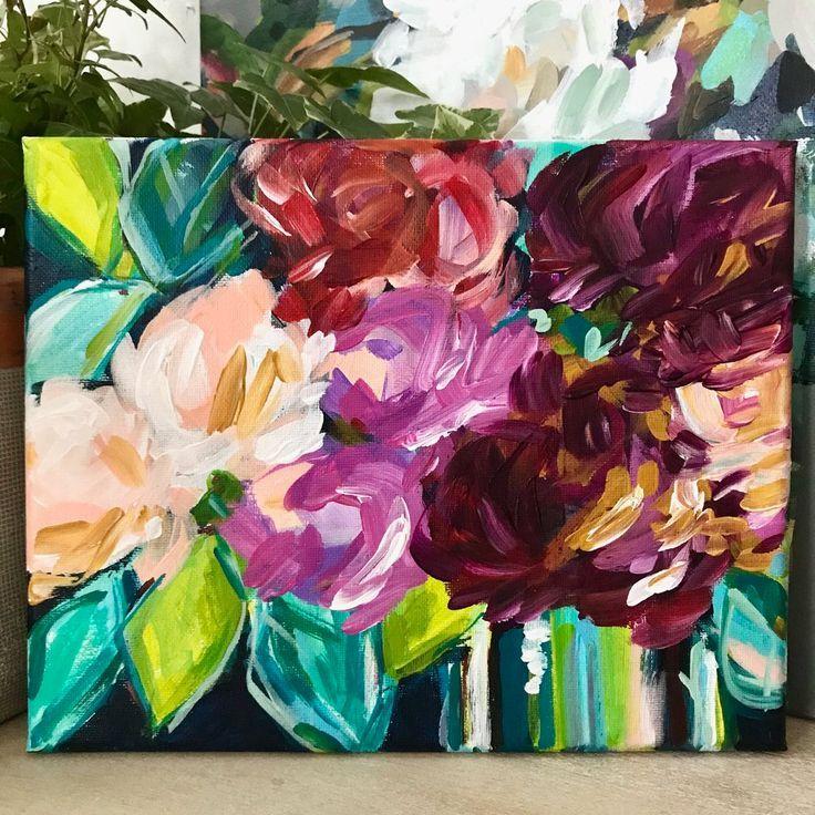 Online Kunstkurse Lerne Wie Man Abstrakte Acrylblumen Malt