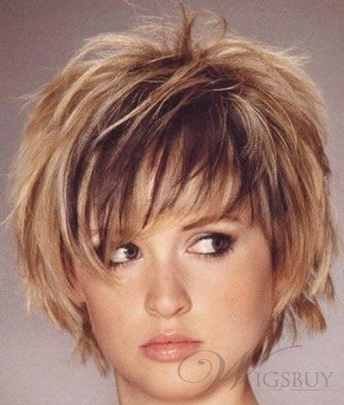 New Fashion Cute Charming Short Layered Bob Straight about 8 Inches Wig 100% Human Hair: wigsbuy.com
