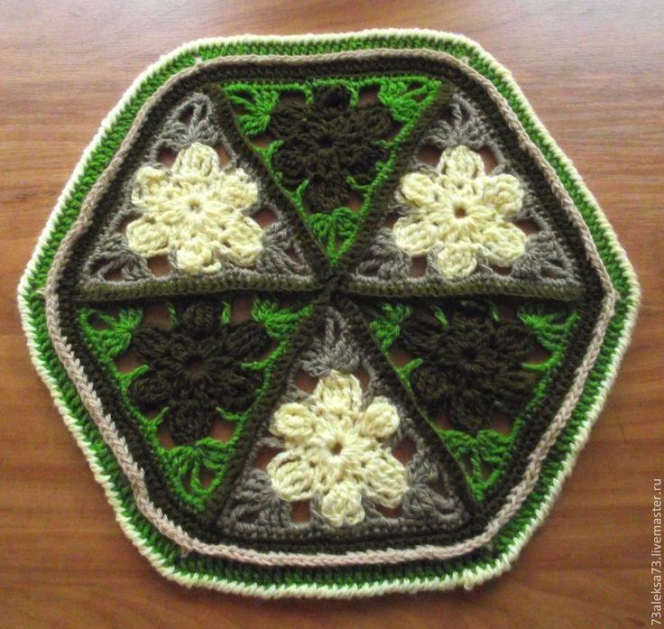Купить Осень Коврик на табурет, стул - болотный, темно-зеленый, кухонный набор, подарок