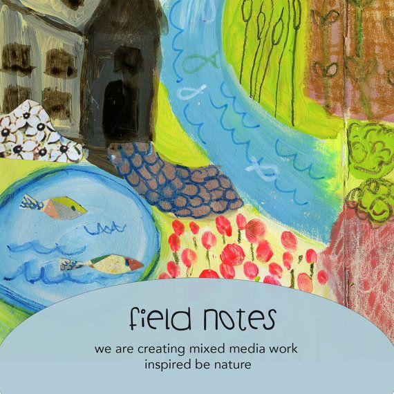 Field Notes online class  by Mindy Lacefield by mindylacefield (Art & Collectibles, Mixed Media & Collage, timssally, online class, art, mixed media, painting, portrait, how to, tutorial, face, folk, primitive, class, workshop)