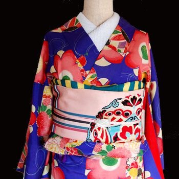 chiwachiwa。着物カタリことり箱   新商品アップしました!なんてカワイイアンティーク着物!