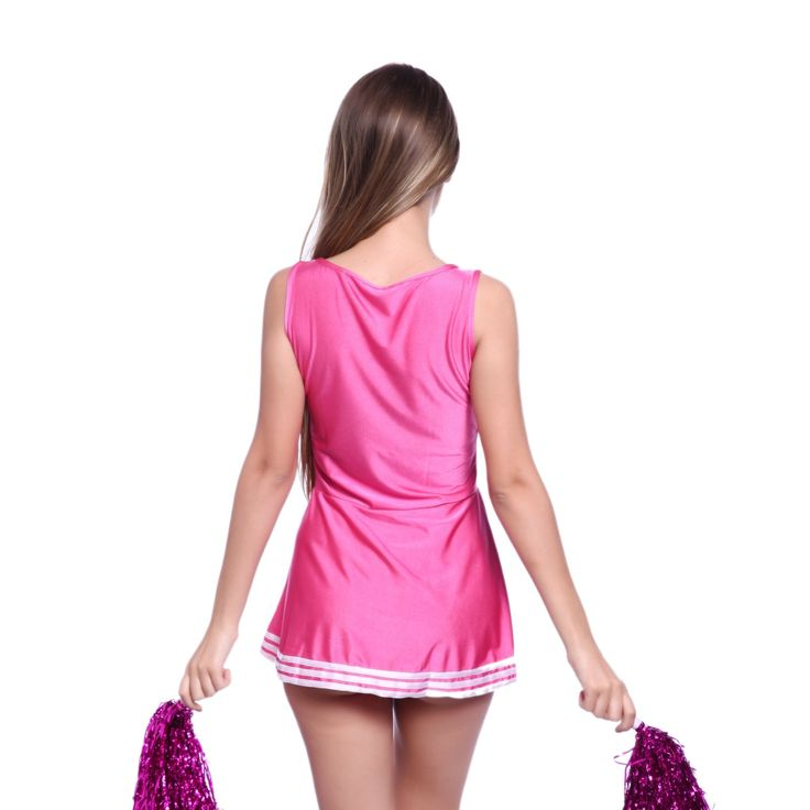 VARSITY COLLEGE SPORTS CHEERLEADER HIGH SCHOOL GIRL MUSICAL UNIFORM FANCY DRESS COSTUME OUTFIT W/ POM POMS uk 4 6 8 10 12 14 16 18 FREE POSTAGE: Amazon.co.uk: Clothing