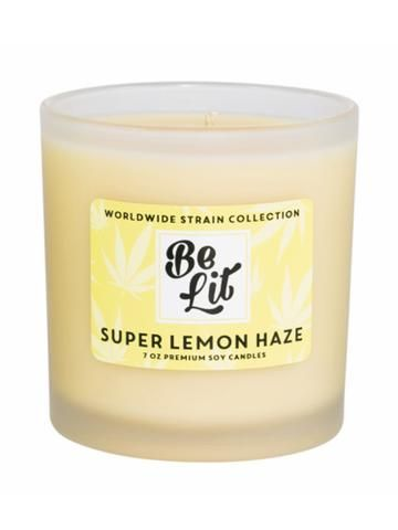Super Lemon Haze- Be Lit Premium Soy Candles!! ESCAPE AND ENJOY WITH THESE PREMIUM SOY CANDLES, MADE IN THE USA EACH CANDLE HAS A 55+ HOUR BURN TIME   A supreme mixture of simple syrup & freshly squeezed lemons over ice. Ahhh.