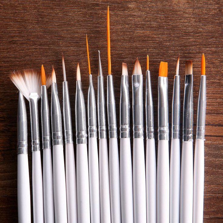 16x Profi Design Nagel Kunst Pinsel Set Malerei Punktierung Maniküre Hochwertig