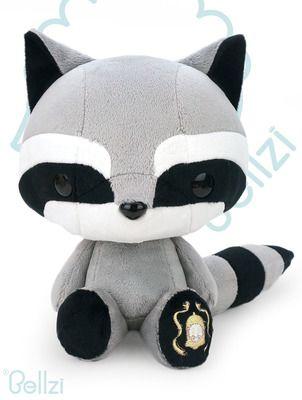 Cute Bellzi Raccoon Stuffed Animal Plush Toy