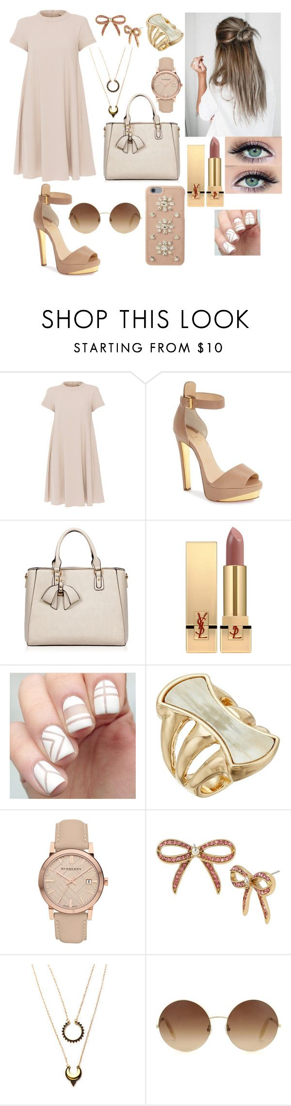 """Untitled #75"" by rugiledamaseviciute on Polyvore featuring beauty, 'S MaxMara, Christian Louboutin, Yves Saint Laurent, Robert Lee Morris, Burberry, Betsey Johnson, WithChic, Victoria Beckham and MICHAEL Michael Kors"