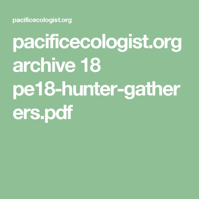 pacificecologist.org archive 18 pe18-hunter-gatherers.pdf