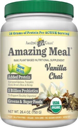 Dietary Supplements: Amazing Grass Amazing Meal Vanilla Chai 30 Servings BUY IT NOW ONLY: $47.71