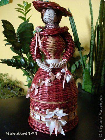 Поделка изделие Плетение Куколка и башмачки Трубочки бумажные фото 1