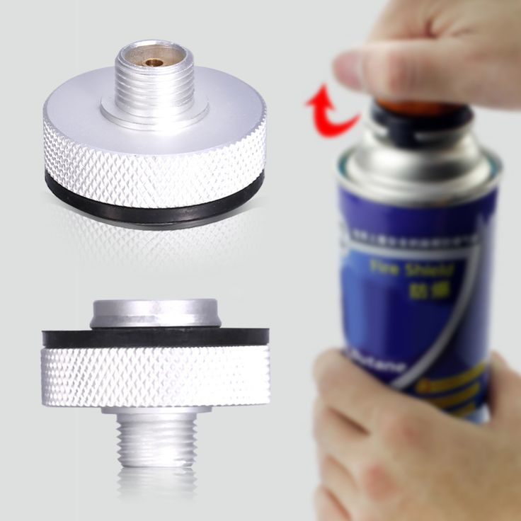 1pcs Aluminum Outdoor Camping Gas Stove Adapter Refill Connector Burner Conversion Head Gas Tank Bottle Adapter Accessory Kit //Price: $8.98 & FREE Shipping //