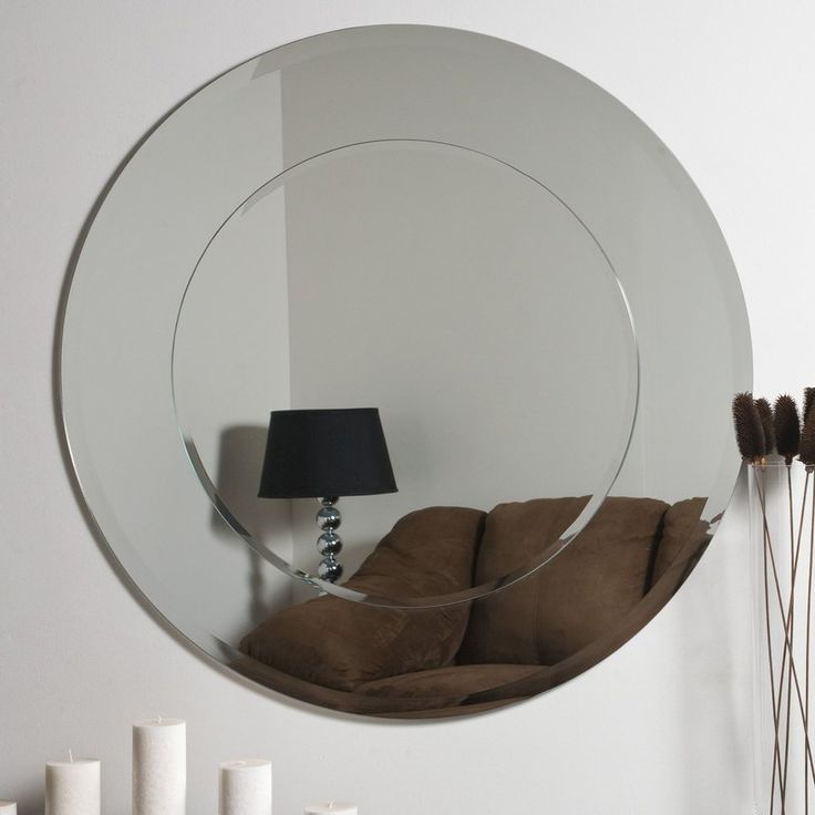 Shop Decor Wonderland Oriana 35 In H X 35 In W Round Frameless Bathroom Mirror With Beveled