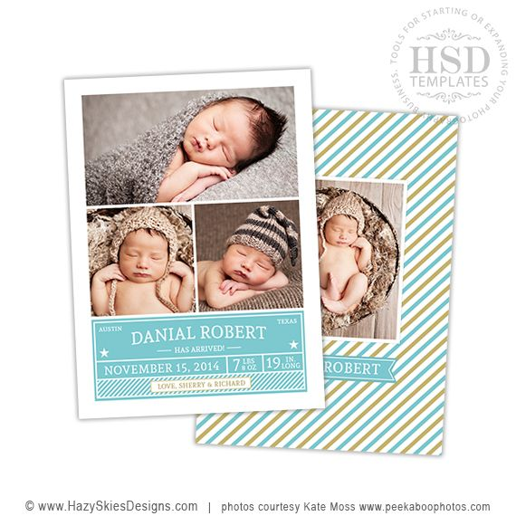 71 best Birth Announcement Templates Family Photography Templates – Free Baby Boy Birth Announcement Template