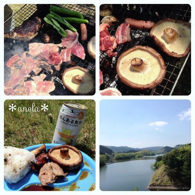今回のメインは、ラム肉 骨付き鶏肉、ステーキしいたけ 天気も良くてバーベキュー日和です - 18件のもぐもぐ - バーベキュー by あねら