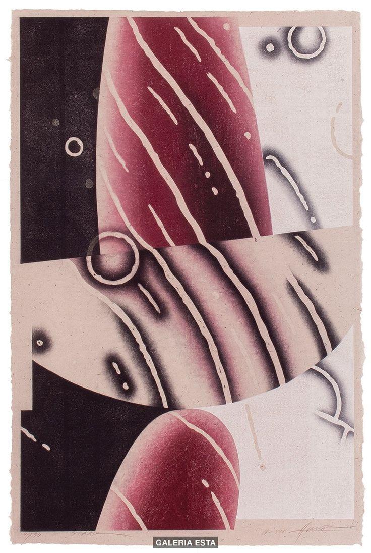 Akira Kurosaki - Saddle W548, 2002; woodcut