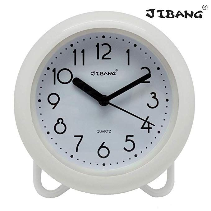 Jibang Waterproof Bathroom Clock Desktop Clocks For Bathroom 7
