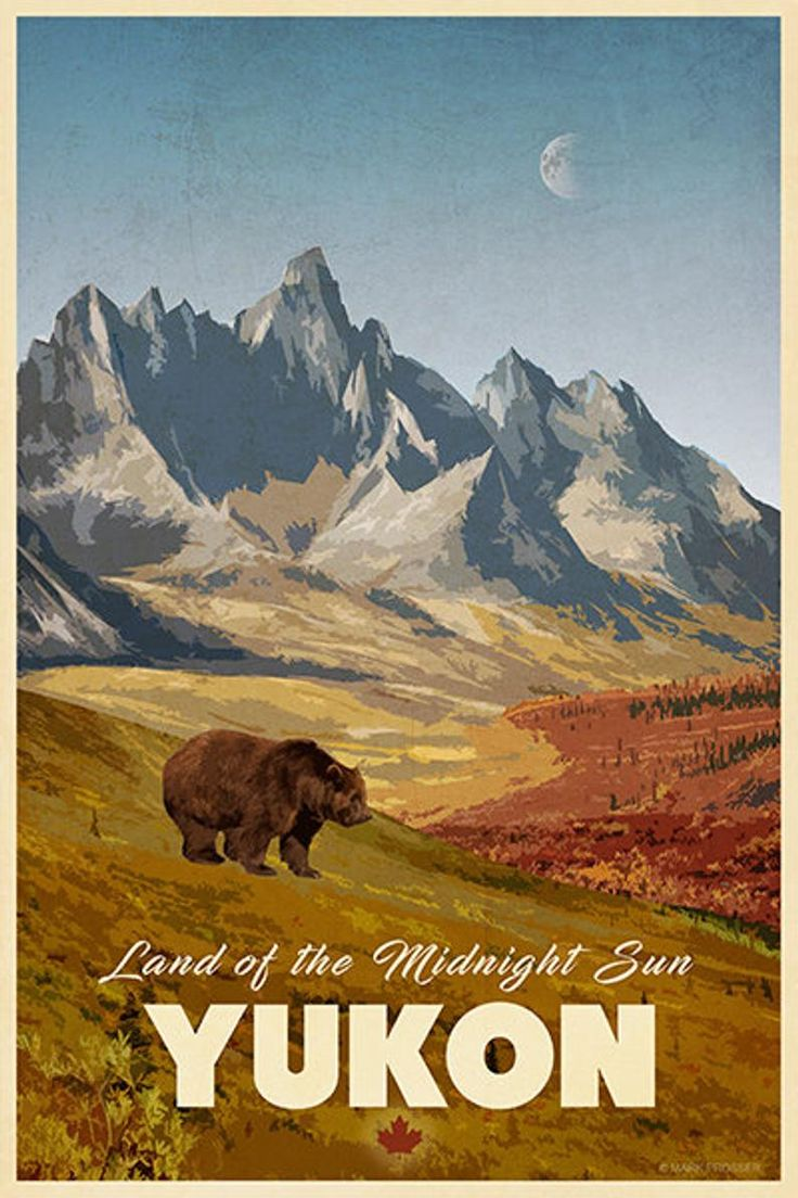 Yukon Travel Poster in 2020 (With images) Travel posters