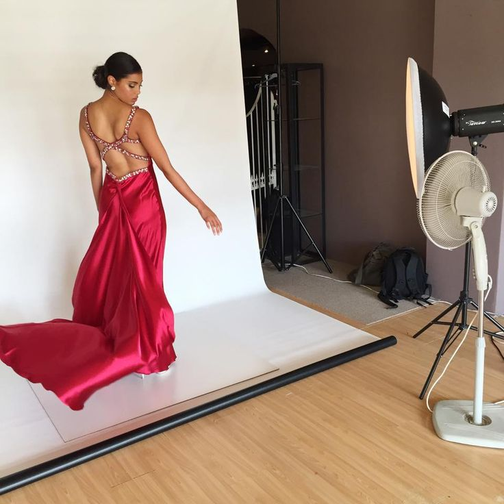 Lights, camera, action! Check out a behind the scenes look at Scarlett's 2015 photo shoot. #ScarlettFashion #MatricDress #Openback #Glamorous #onset