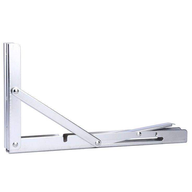 Wall-Mounted Heavy Duty Stainless Steel Folding Shelf Bench Bracket 330lb Load